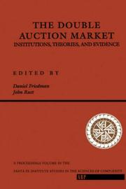 Cover of: The Double Auction Market by John Rust