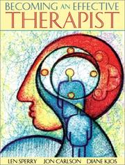 Cover of: Becoming an Effective Therapist | Jon Carlson