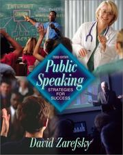 Cover of: Public Speaking by David R. Zarefsky