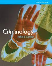 Cover of: Criminology (9th Edition) (MyCrimeKit Series) by John E. Conklin