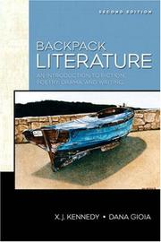 Cover of: Backpack Literature (2nd Edition) (Kennedy/Gioia Literature Series) by Dana Gioia