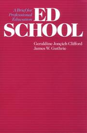 Cover of: Ed School | James W. Guthrie
