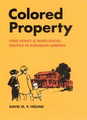 Cover of: Colored Property | David M. P. Freund