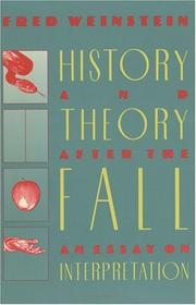 Cover of: History and theory after the fall | Fred Weinstein