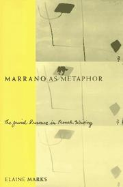Cover of: Marrano as metaphor by Elaine Marks
