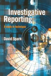 Cover of: Investigative Reporting | DAVID SPARK