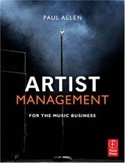 Cover of: Artist management for the music business | Paul Allen