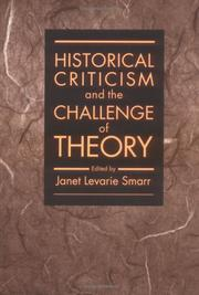 Cover of: HISTORICAL CRITICISM | Janet Smarr