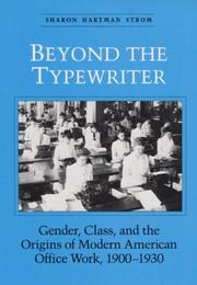 Cover of: BEYOND THE TYPEWRITER | Sharon Strom