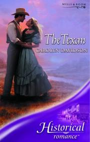 Cover of: The Texan | Carolyn Davidson