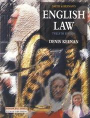 Cover of: Smith and Keenan's English Law by Dennis Keenan