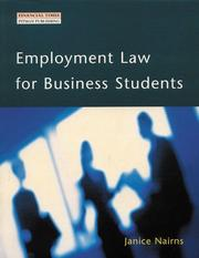 Cover of: Employment Law for Business Students by Janice Nairns