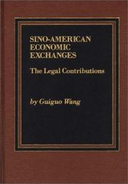 Cover of: Sino-American Economic Exchanges | Guiguo Wang