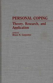 Cover of: Personal Coping | Bruce N. Carpenter