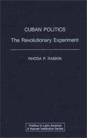 Cover of: Cuban Politics | Rhoda P. Rabkin