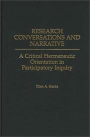 Cover of: Research Conversations and Narrative by Ellen A. Herda