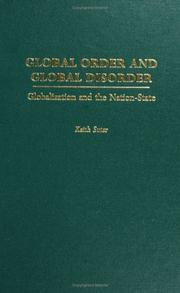 Cover of: Global order and global disorder | Keith Suter