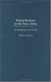 Cover of: Doing Business in the New China | Birgit Zinzius