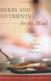 Cover of: Herbs and Nutrients for the Mind | Chris D. Meletis