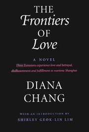 Cover of: The frontiers of love by Diana Chang