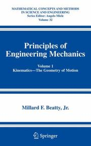 Cover of: Principles of Engineering Mechanics: Volume 1 | Millard F. Beatty Jr.