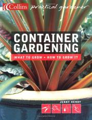 Cover of: Container Gardening | Jenny Hendy