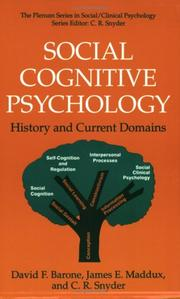 Cover of: Social cognitive psychology | David F. Barone