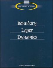 Cover of: Boundary Layer Dynamics | National Research Council.