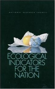 Cover of: Ecological Indicators for the Nation | National Research Council.