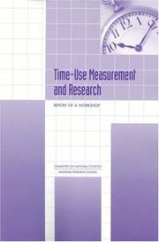Cover of: Time-Use Measurement and Research by National Research Council.