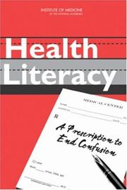 Cover of: Health Literacy | Committee on Health Literacy