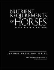 Cover of: Nutrient Requirements of Horses by National Research Council.