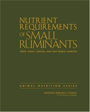 Cover of: Nutrient Requirements of Small Ruminants by Committee on the Nutrient Requirements of Small Ruminants