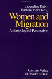 Cover of: Women and Migration | Jacqueline Knoerr