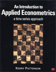Cover of: An Introduction To Applied Econometrics by Kerry Patterson