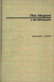 Cover of: Thea Musgrave by Donald L. Hixon