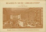 Cover of: Reader in Music Librarianship | Carol June Bradley