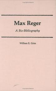 Cover of: Max Reger | William E. Grim