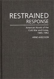 Cover of: Restrained response | Arne Axelsson