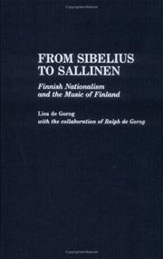 Cover of: From Sibelius to Sallinen by Lisa S. De Gorog