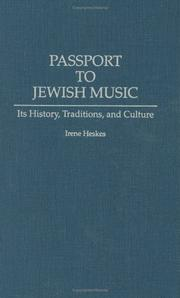 Cover of: Passport to Jewish music | Irene Heskes