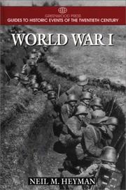 Cover of: World War I by Neil M. Heyman