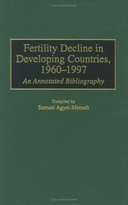 Cover of: Fertility Decline in Developing Countries, 1960-1997 | Samuel Agyei-Mensah