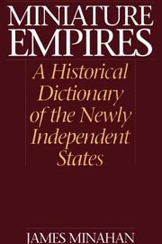 Cover of: Miniature Empires | James Minahan