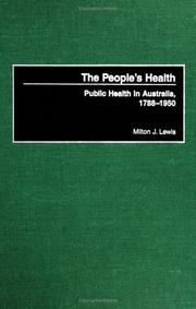 Cover of: The People's Health | Milton J. Lewis