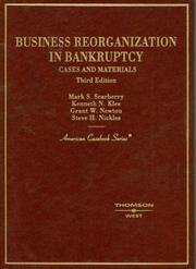 Cover of: Business Reorganization in Bankruptcy | Mark S. Scarberry