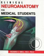 Cover of: Clinical neuroanatomy for medical students by Richard S. Snell