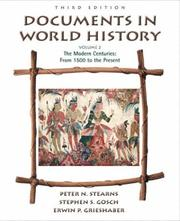 Cover of: Documents in World History, Volume II | Peter N. Stearns