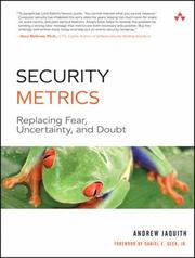 Cover of: Security Metrics | Andrew Jaquith
