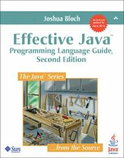 Cover of: Effective Java | Joshua Bloch